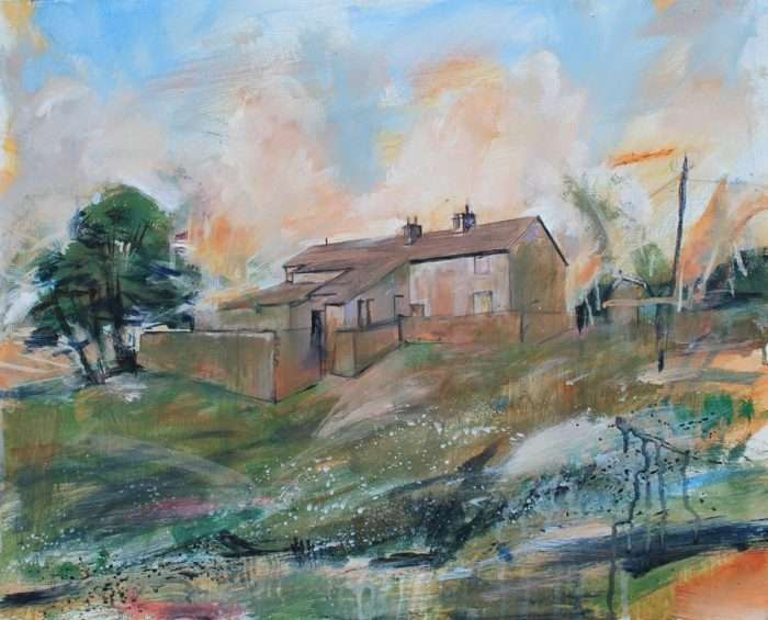 Tockholes Farm - painting by David Pott