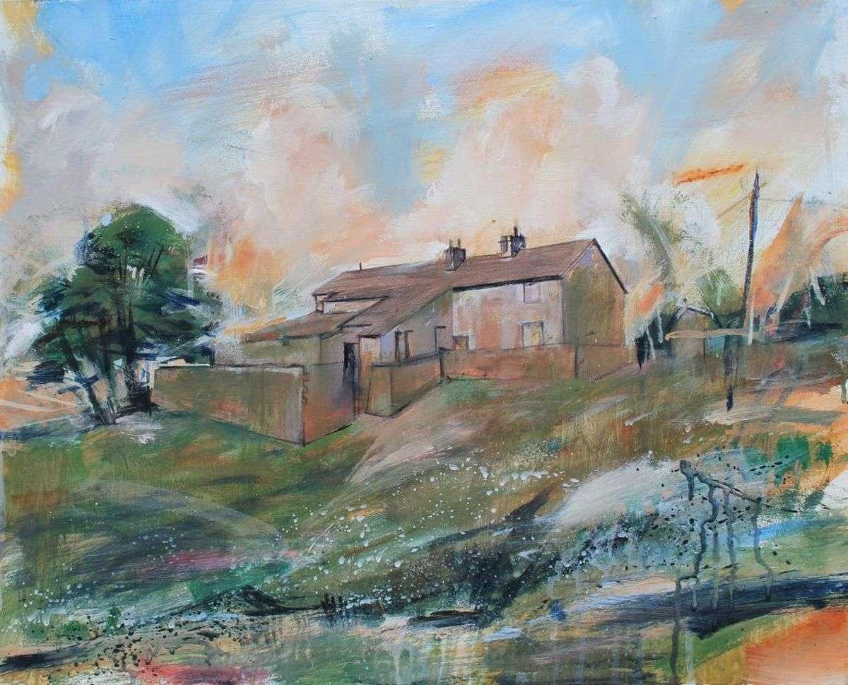 Tockholes Farm - painting by David Pott