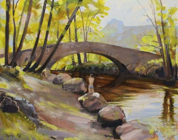 Langdale Beck - a landscape painting by Lancashire artist David Pott