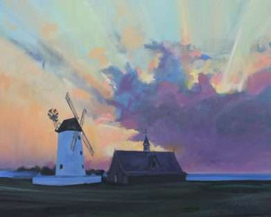 Lancashire painting of the Windmill at Lytham St Anne's 2