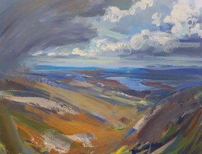 Paintin of the Fairfield Horseshoe towards Windermere