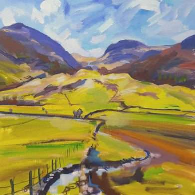 A painting of Crinkle Crags in the Lake District