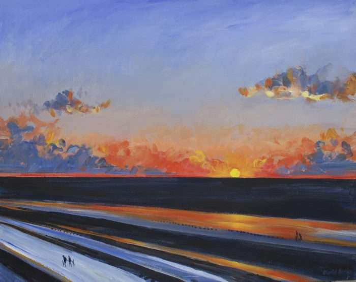 Lancashire art - Blackpool Sunset
