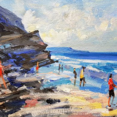 Painting of Whitby Beach (Sunny Day)