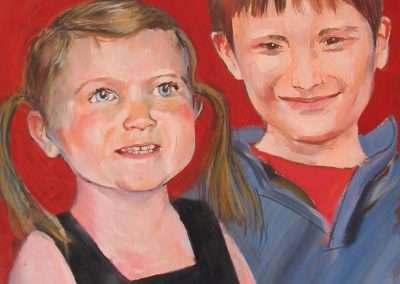 Child portrait commission of brother and sister