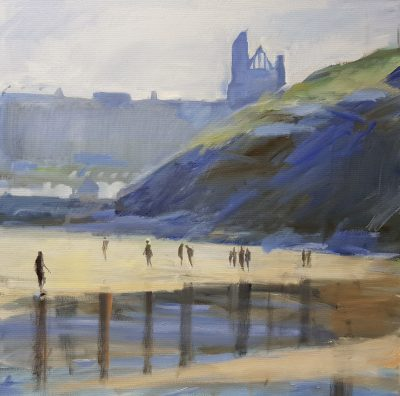 """Painting """"Reflections of Whitby"""" by David Pott"""