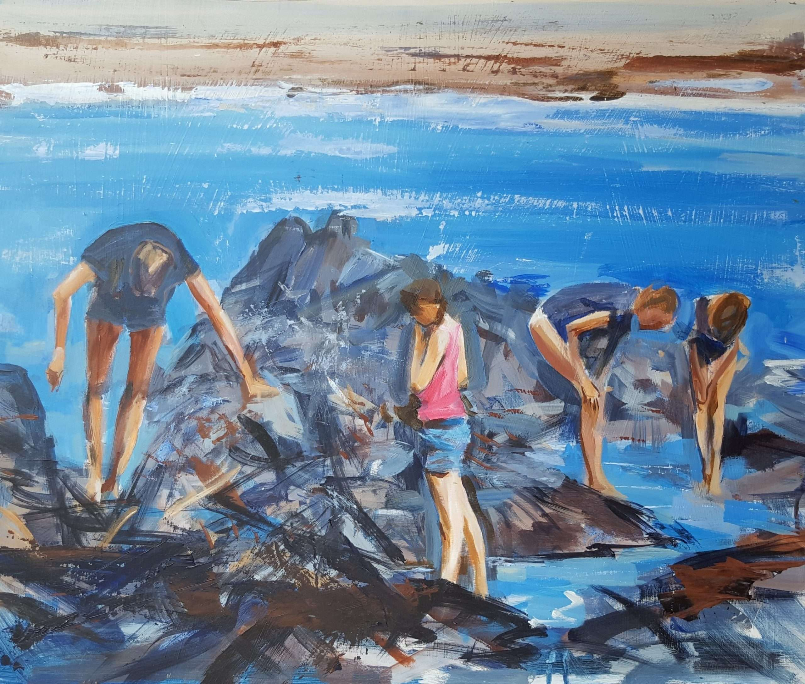 In the rock pools