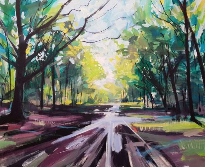 Puddles - Lancashire Painting by David Pott
