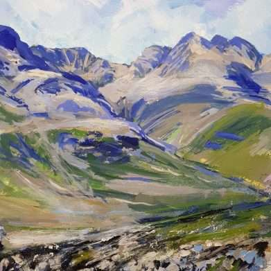 Bowfell and the Crinkles - lake district painting