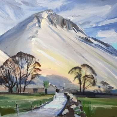Great Gable from Wasdale - lake district painting