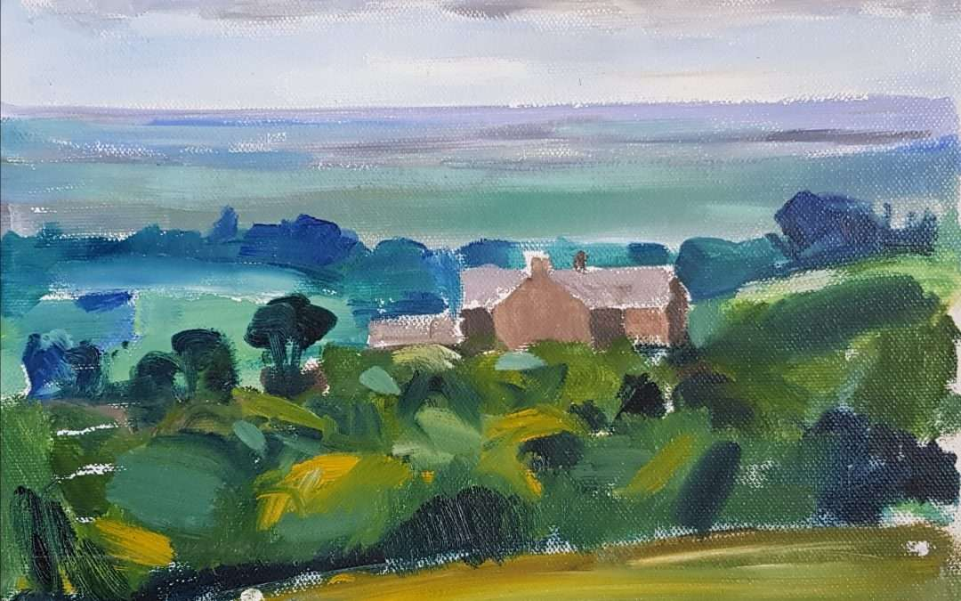 Painting en plein air – a Lancashire farm