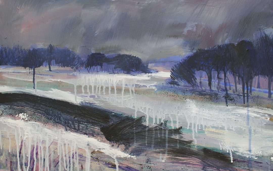 An almost abstract winter landscape…