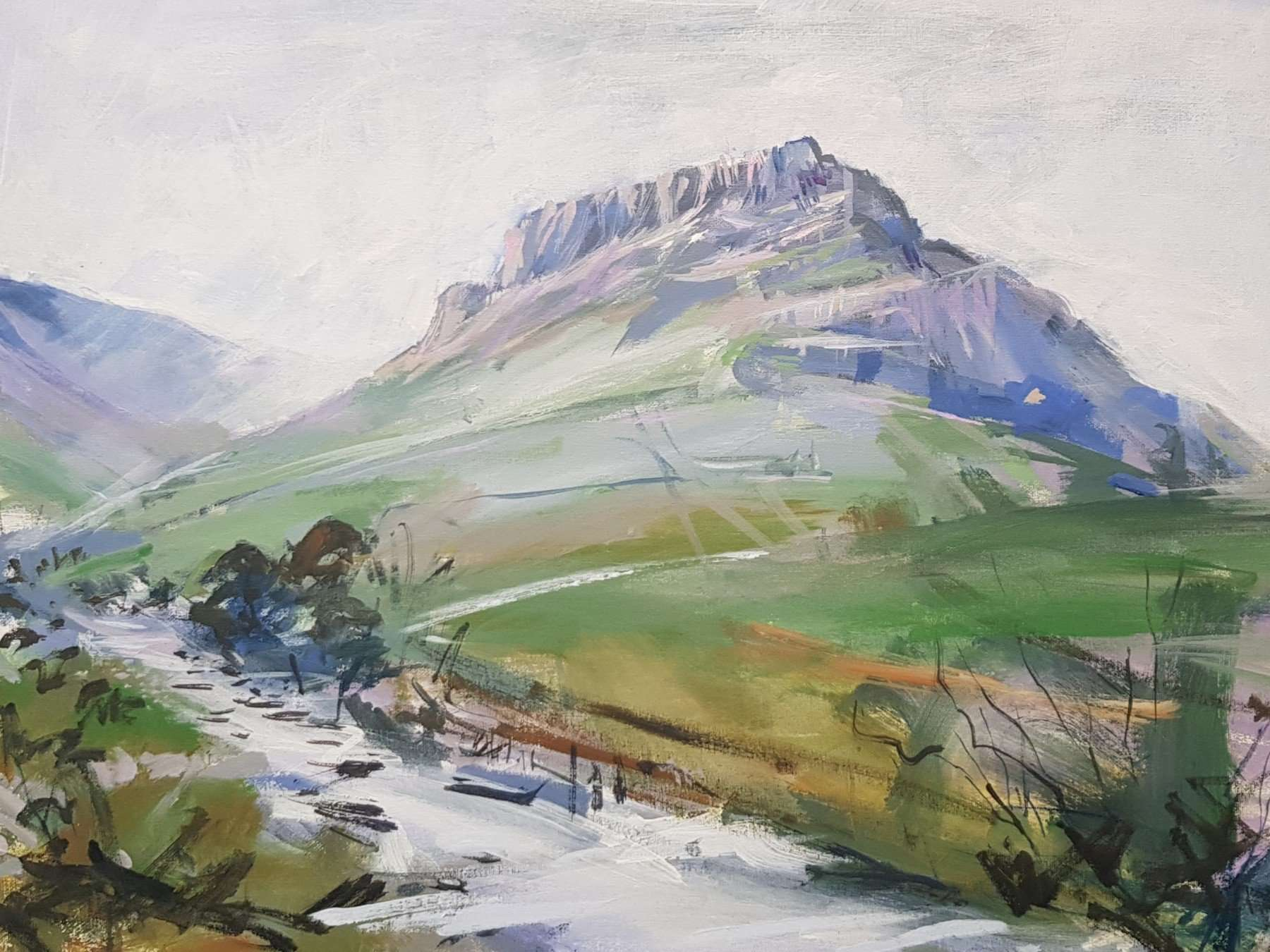 Eagle-Crag-from-Stonethwaite-painting