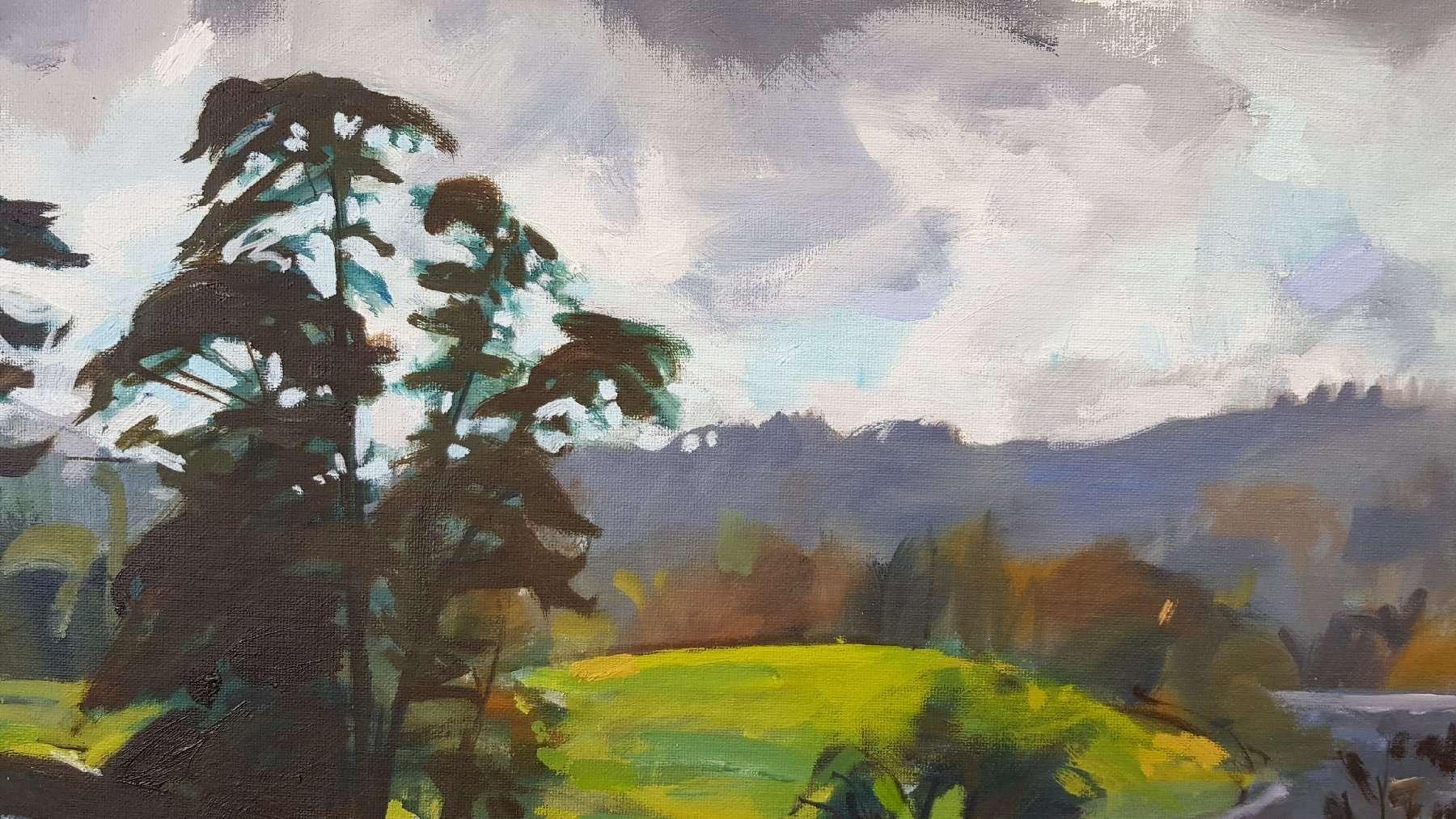 Loughrigg Tarn detail 03