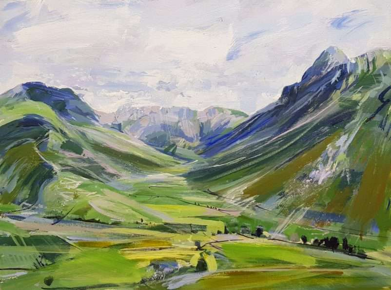 Mickleden Lake District Painting