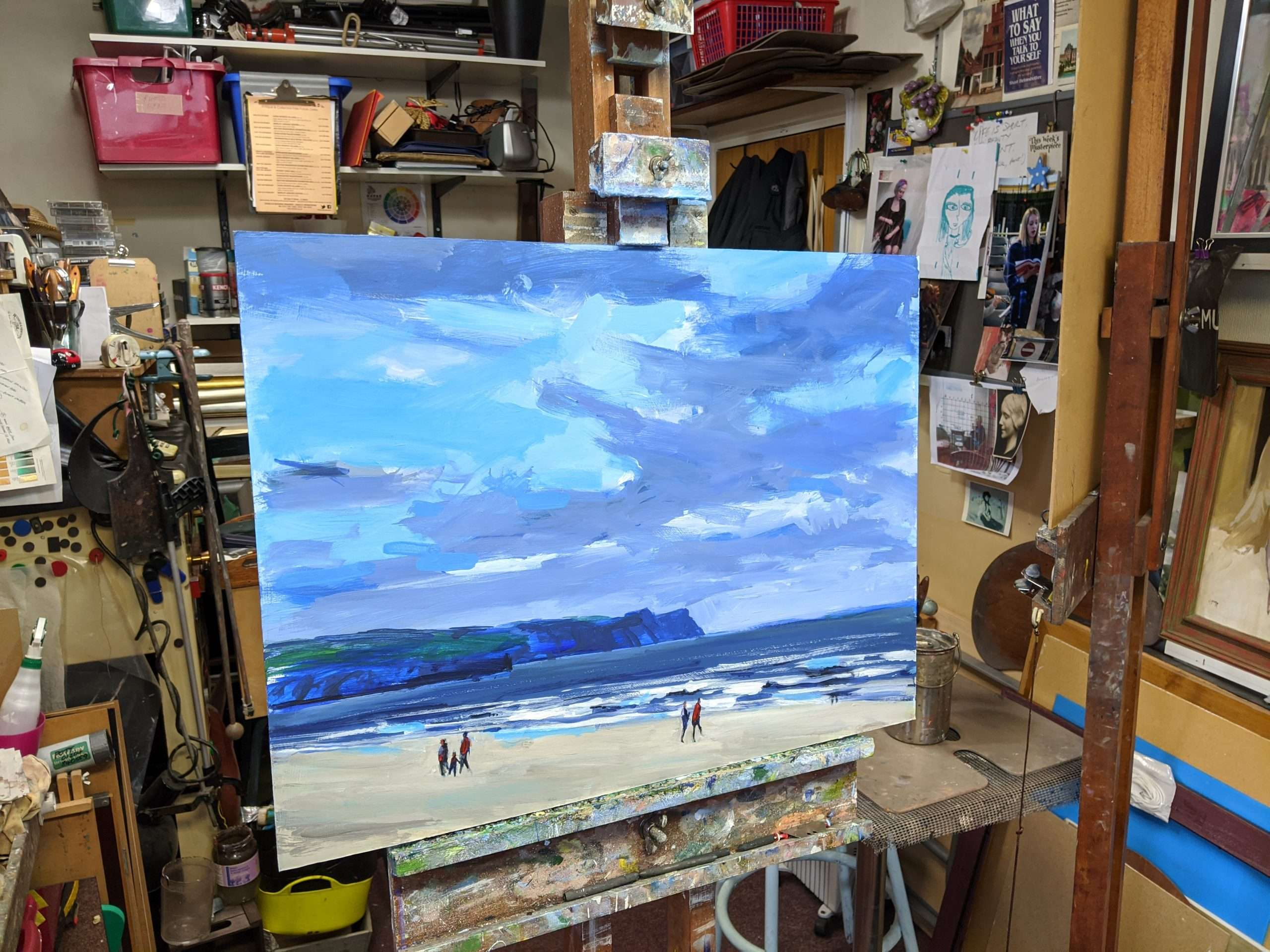 A seascape painting of Whitby