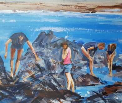 In the Rock Pools fine art print