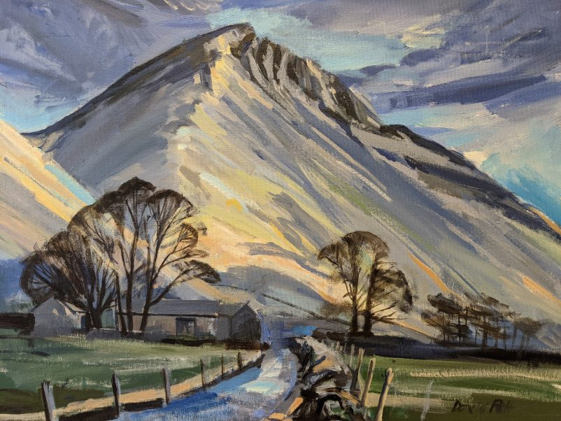 A painting of Great Gable in the English Lake District