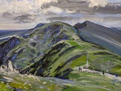 Painitng of Old Man of Coniston and Swirl How