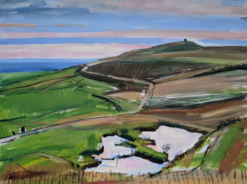 Painting of Rivington Pike