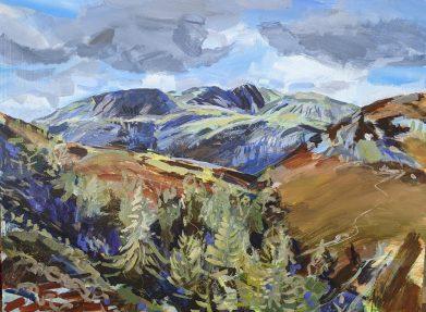 Wetheram from Tilberthwaite. Lake District Painting